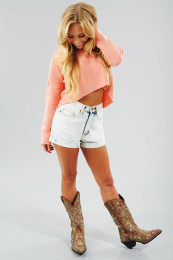 Share to save 10% on  your order instantly!  Start Of Something Sweater: Peach