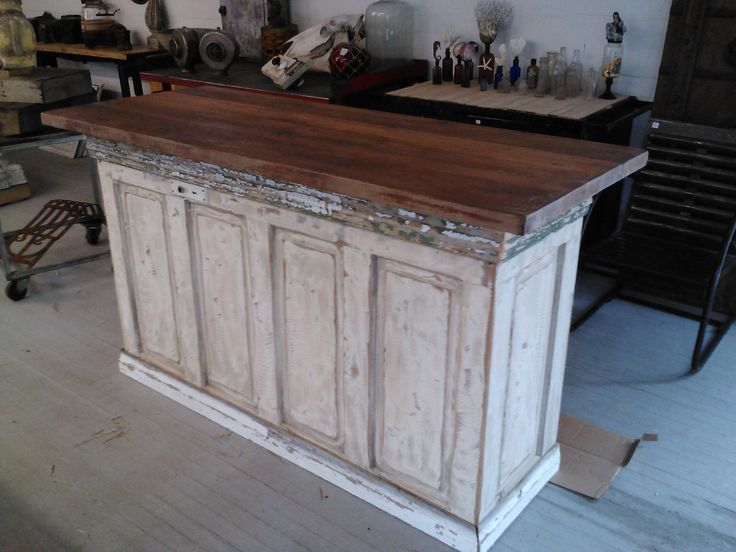 Kitchen Island Made From Old Doors