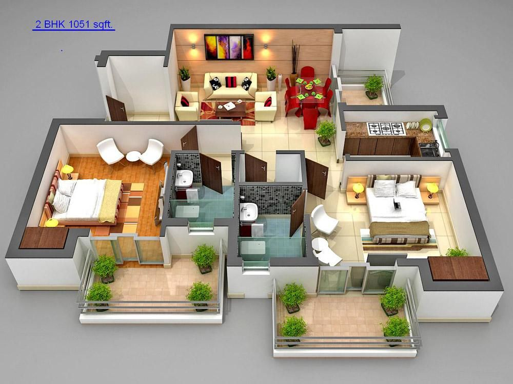 3d House Designs For 900 Sq Ft In India Google Search With