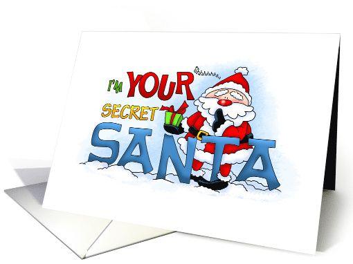 Shhh teasing secret santa greeting card christmas holiday cards shhh teasing secret santa greeting card by annie lang anycardimaginable m4hsunfo