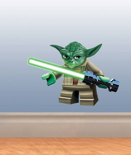 Full Colour Lego Yoda Star Wars Boys Bedroom Wall Sticker Decal Kids Décor by 60 Second Makeover Limited, http://www.amazon.co.uk/dp/B00FUY5ZYW/ref=cm_sw_r_pi_dp_DPMwsb1JVE8GV