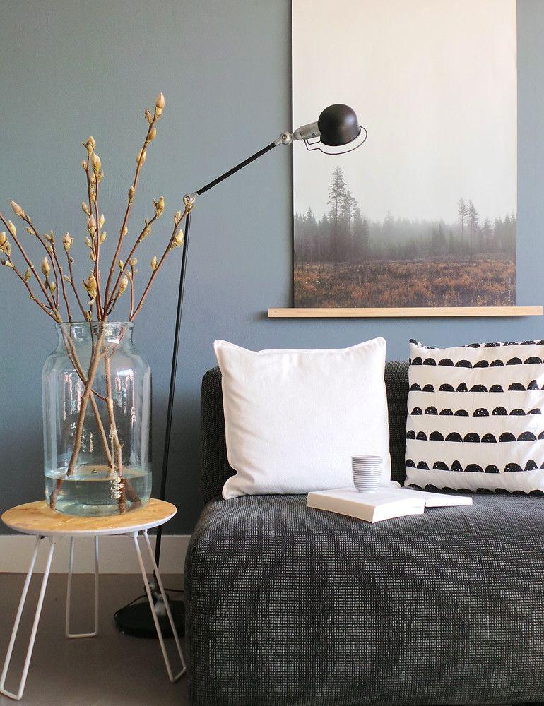 Industriële staande lamp Bronq Jikke zwart 150 cm | Woonkamer ...