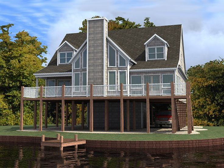 Waterfront House Plan 073h 0041 Coastal House Plans Beach House Floor Plans Lake House Plans