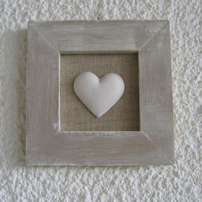 quadro con cuore in gesso | CORNICI/LAVAGNA | Pinterest | Cuore ...