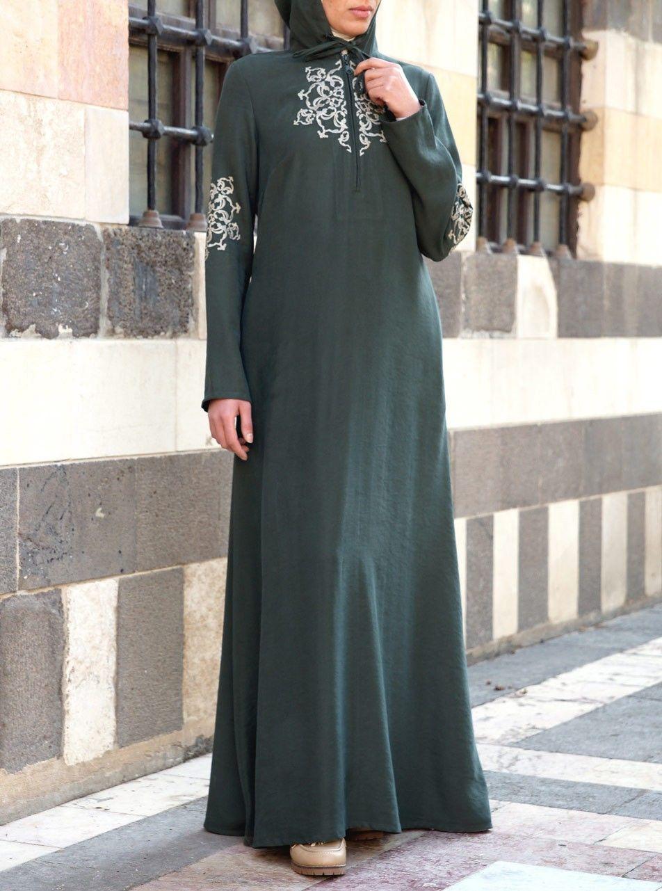 Modal maxi embroidered hoodie abaya pinterest hoodie