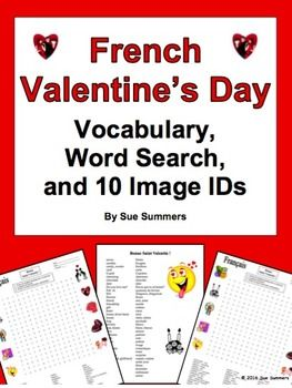 french valentine 39 s day word search puzzle vocabulary and image ids french activities. Black Bedroom Furniture Sets. Home Design Ideas