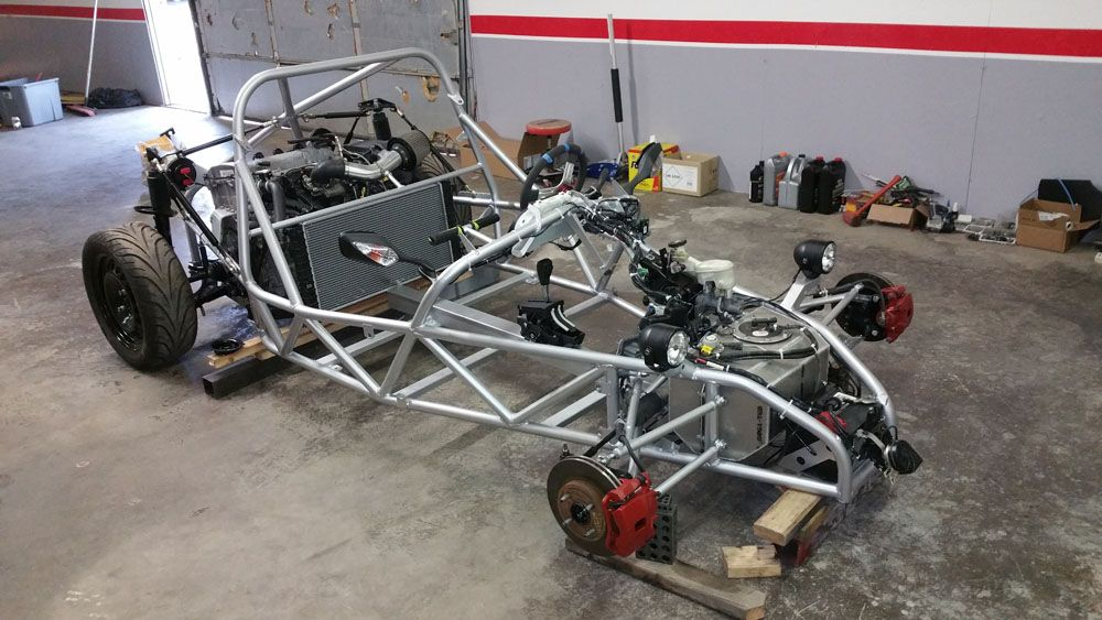 DF Kit Car Goblin First Prototype Tube Chassis Being Built.