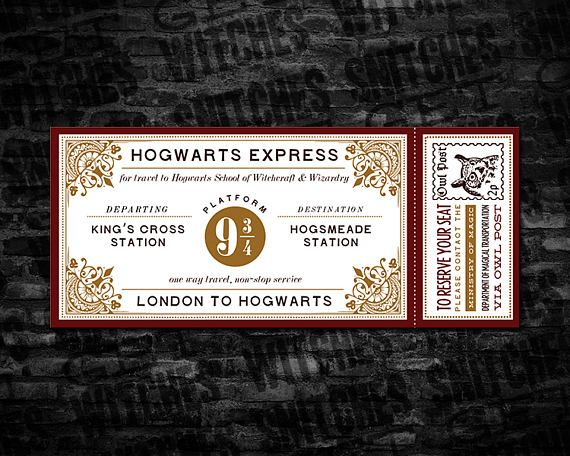 photo regarding Hogwarts Express Printable known as Printable Wizard Higher education Prepare Categorical Ticket, 7\