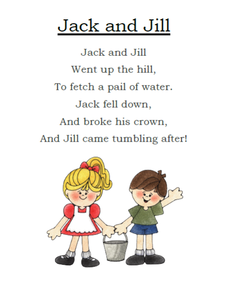 Jack And Jill Dvd Release Date March 6 2012: Jack And Jill Printable Poem
