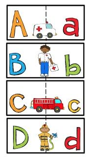 Community Helpers Art Ideas Preschool | Community Helpers Alphabet Cards