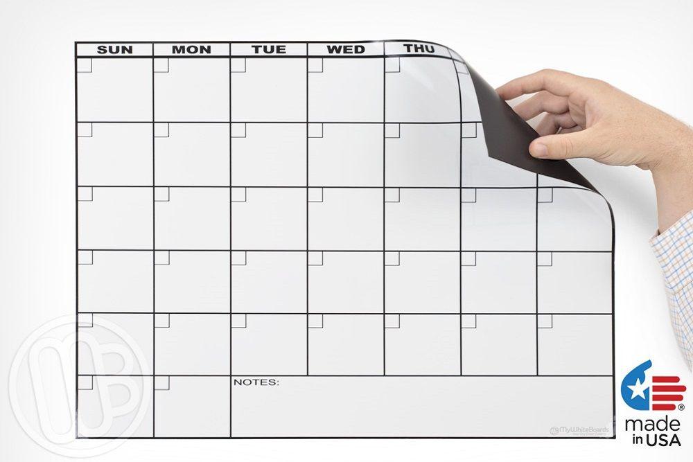 Magnetic Refrigerator Dry Erase Calendar Dry Erase Calendar