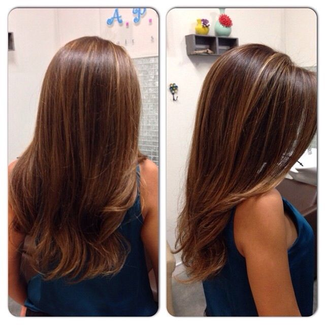 Highlights, base color and haircut by stylewithsandy