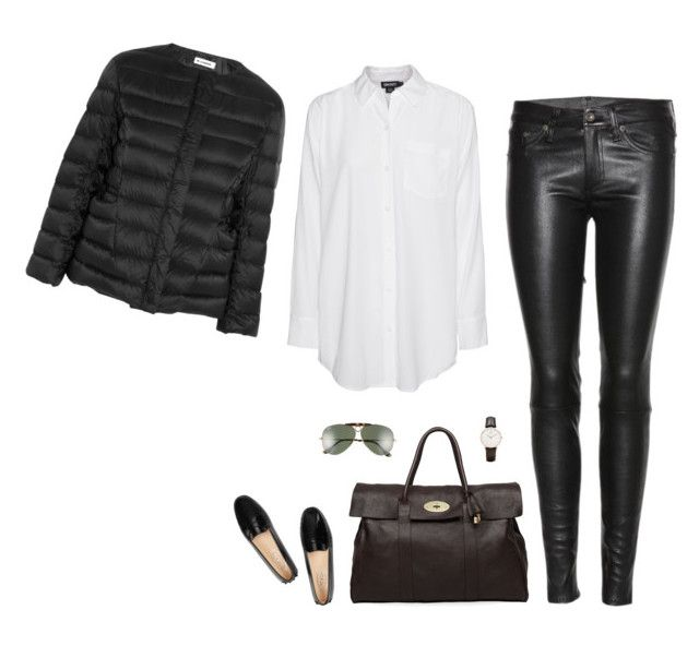 """""""Unbenannt #421"""" by llsbo ❤ liked on Polyvore featuring Tod's, DKNY, rag & bone, Jil Sander, Ray-Ban, Mulberry and Daniel Wellington"""