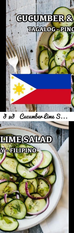 Cucumber Lime Salad – Pinoy Tagalog Filipino Recipes … T …