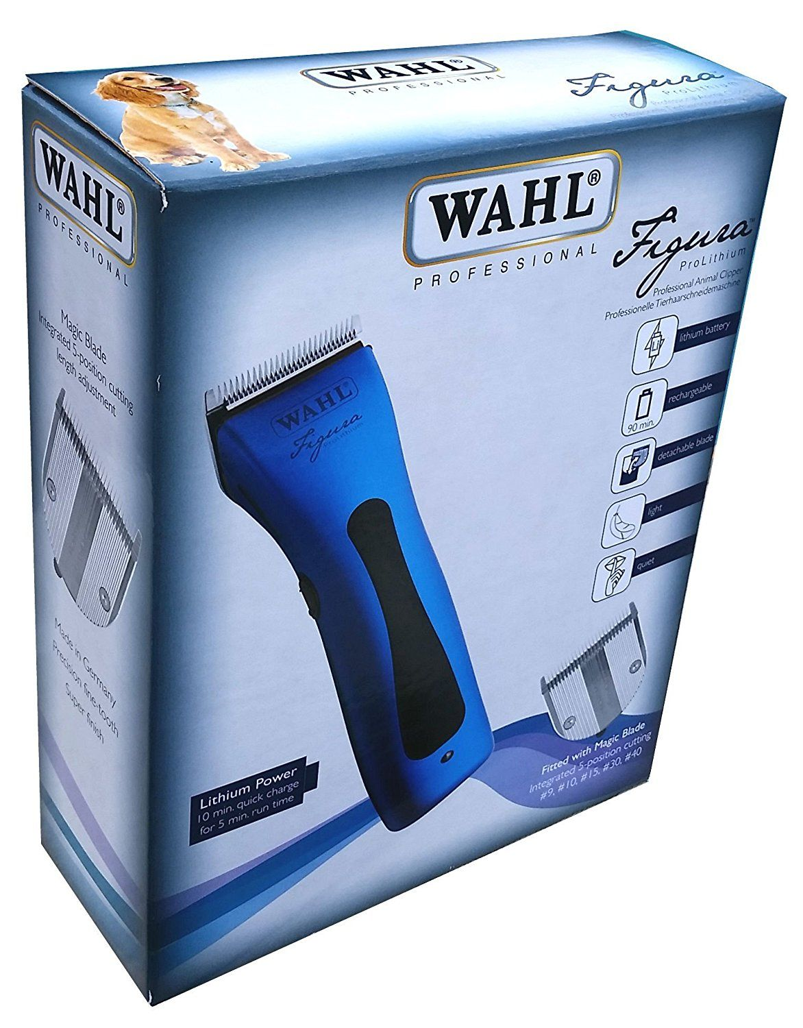 Wahl 8868 Figura Professional Lithium Ion Rechargeable Pet Clipper Kit By Wahl Professional Animal Blue Hurry Check Out Th Dog Clippers Dogs Dog Grooming