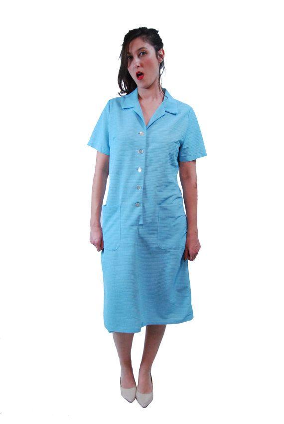 Light Blue Vintage Dress For Women 1960's. Free by shpirulina
