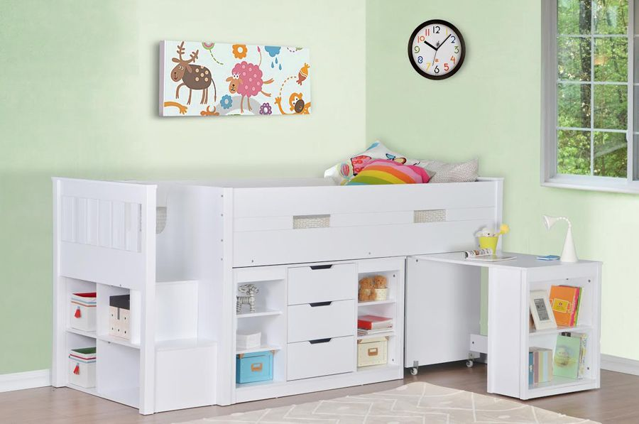 Charlie Storage Midsleeper With Pull Out Desk Mid