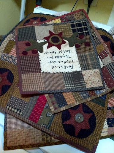 More Wonderful Little Quilts From Cherri Payne Quilted Mug Rugs