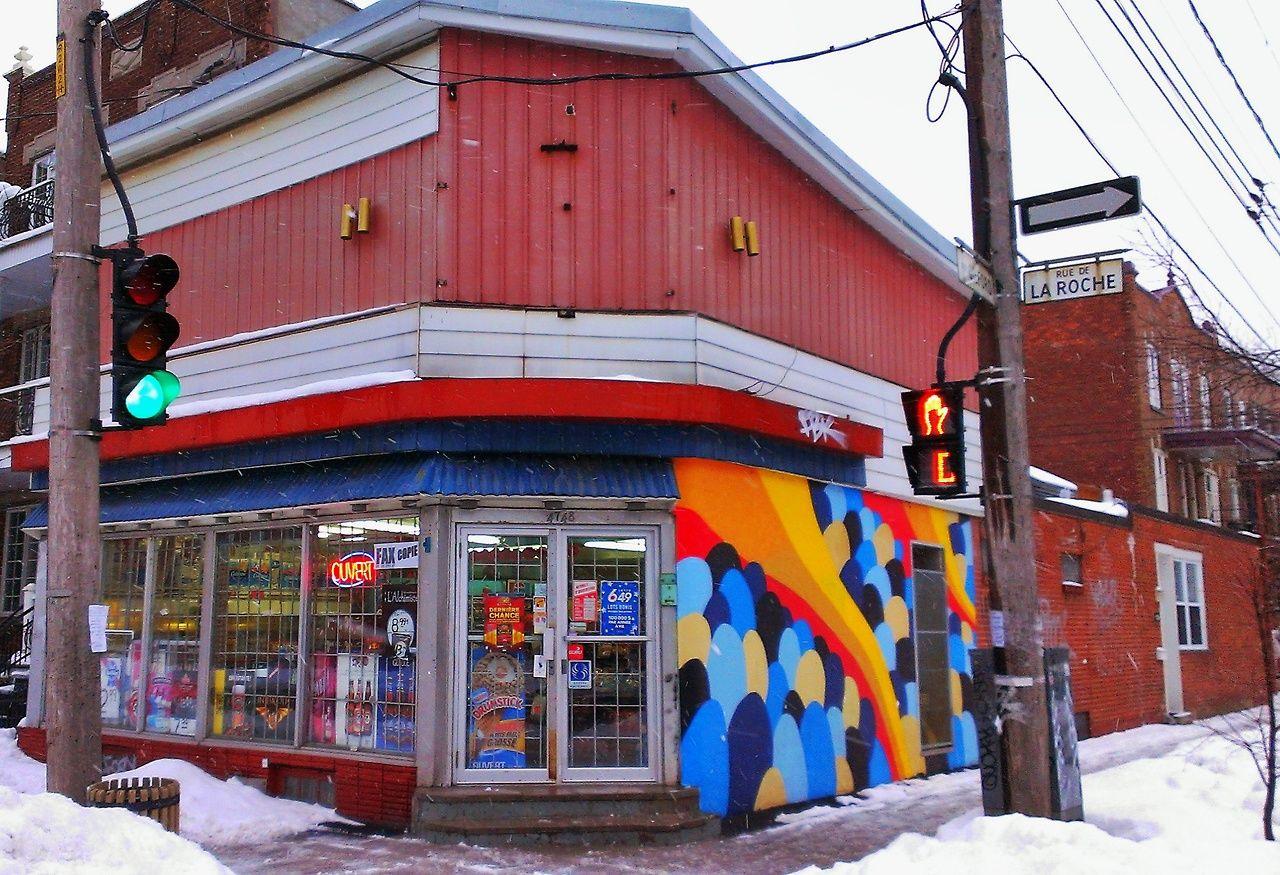 Depanneur Plateau Mont Royal By Kastororama Royal Street Art Stencil Art