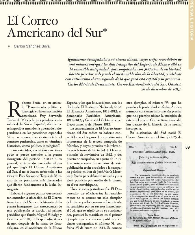 El Correo Americano el Sur, publicación de la prensa insurgente. Busca el suplemento de @RevistaZocalo en @solosanborns y @LibreriasGandhi.