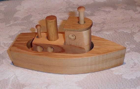 Tug Boat wood toy | Tugboats, Wood toys and Toy