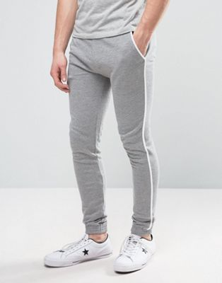 Super Skinny Joggers With White Piping in 2018   MENS FASHION ... 751b7c6f96