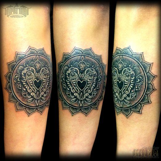 Tatto Body Inside Tattoo Ideas By Kerry Mitchell: Black And Grey Heart Piece By Coen Ray Mitchell