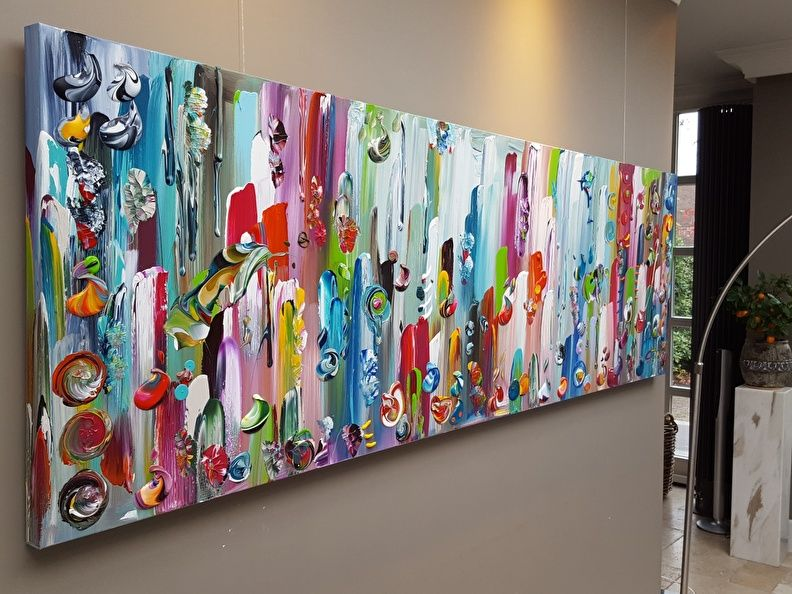Modern Interieur Schilderij : Heide schilderij etsy