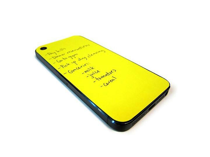 Post it note i phone case