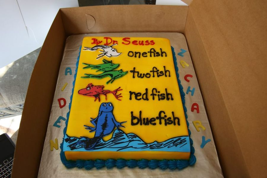 one fish two fish cake Dr Seuss one fish two fish red fish