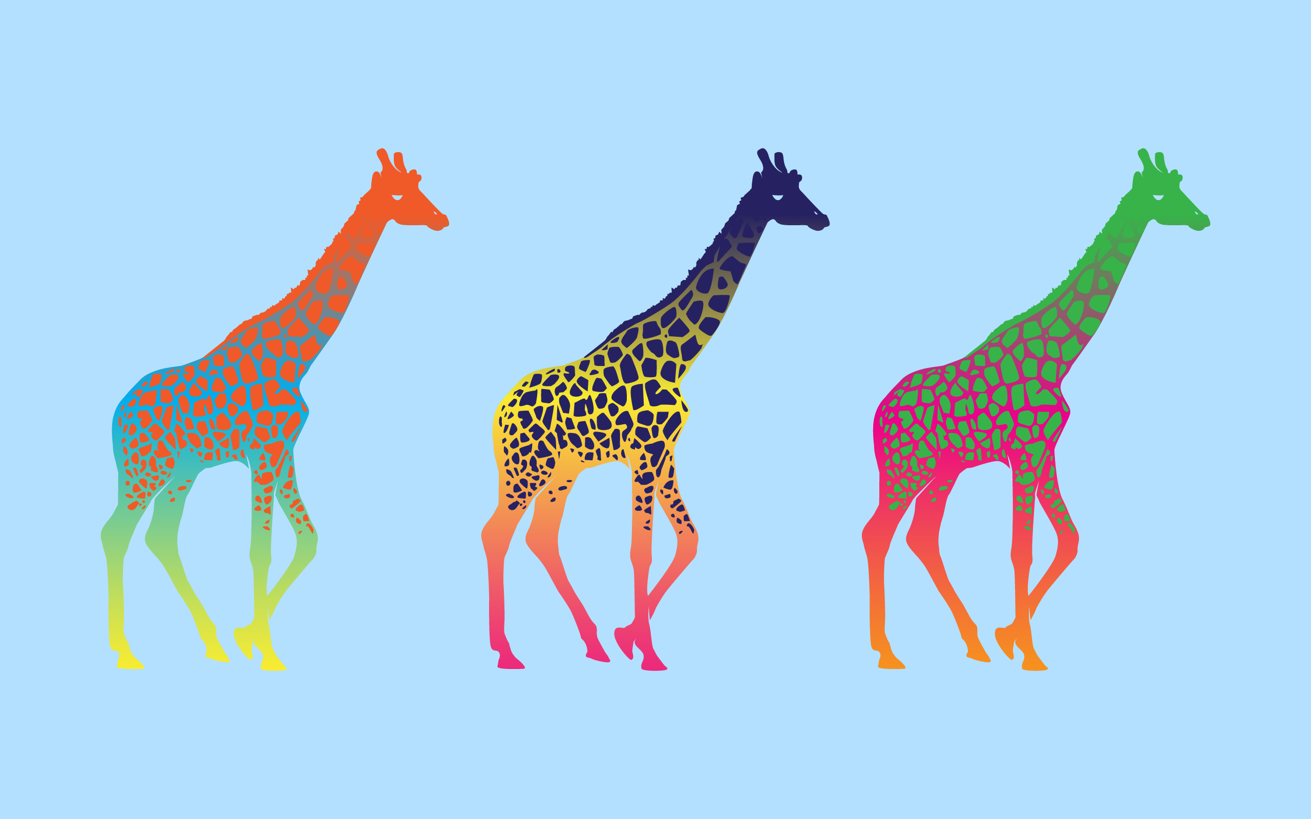 Simple Desktops Giraffe Art Giraffe Giraffe Colors