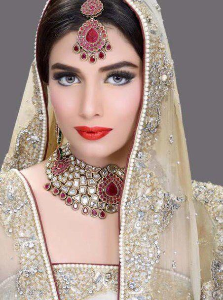 Red Lipstick Pakistani Bridal Makeup Indian Bridal Makeup