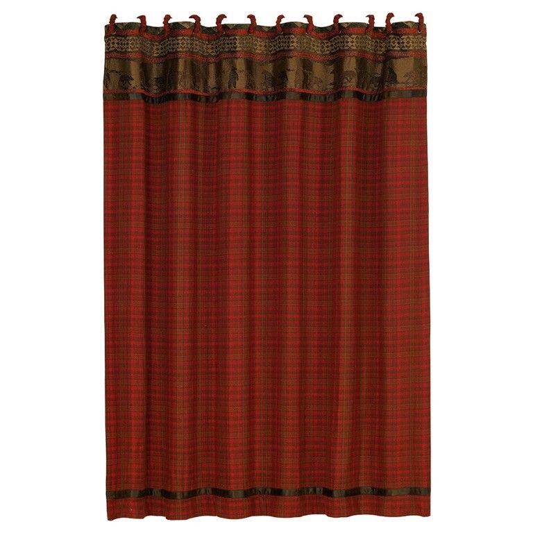 Cabin Themed Cascade Lodge Shower Curtain 72 X Decor