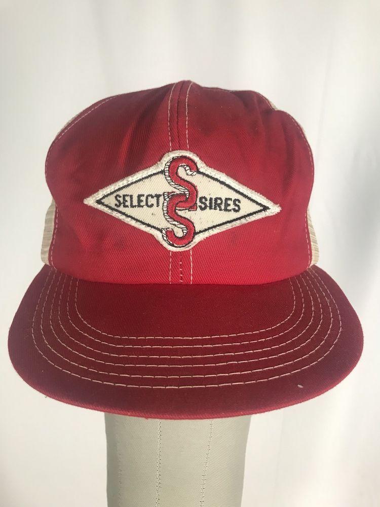 66bb7f8191f47 VINTAGE 1980s Select Sires Rare K-Brand Trucker Hat  Cap