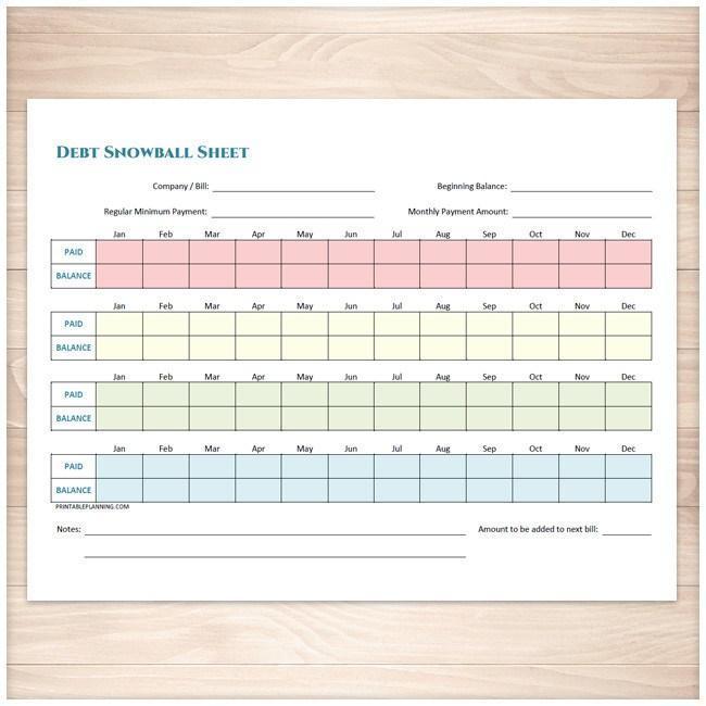 Debt Snowball Sheet Debt Payoff Plan And Bill Payment Tracker