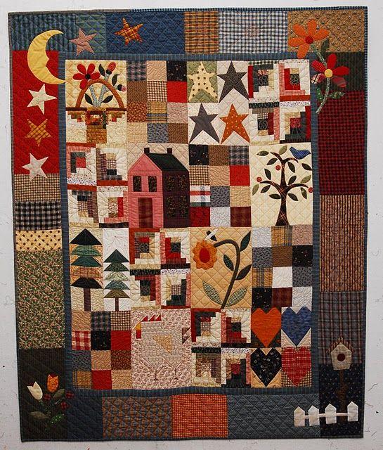 Quilts Pam Kay Fiber Artist Quilts Primitive Quilts Applique Quilts