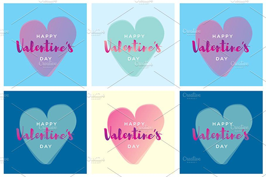 Happy Valentine S Day Set Wedding Card Templates Happy Valentine Happy Valentines Day