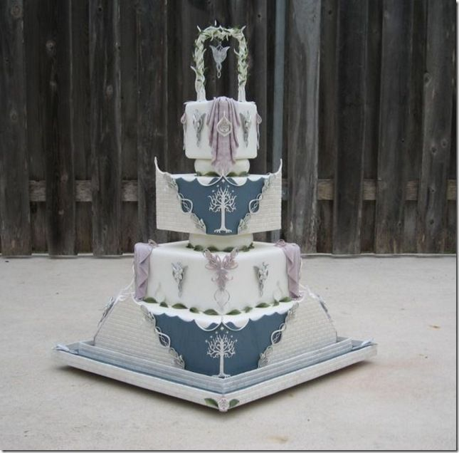 LOTR Wedding   Lord of the Rings Wedding Cake by Cake Central member ...