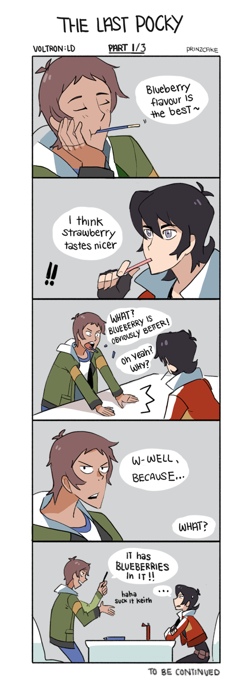 For Pocky Day- Part 1/3 Keith doesn't know why he bothers arguing with Lance