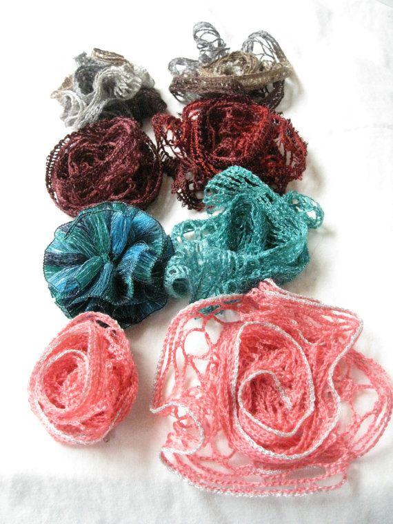 Sashay yarn flower hair clip by TheStylishHatter on Etsy, $3.30 ...