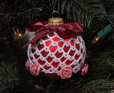 Free Crochet Christmas Ball Cover Pattern Crochet Ornament