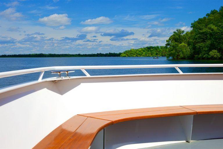 Cruising Gull Lake aboard Destiny Cruises, Brainerd Lakes, Minnesota