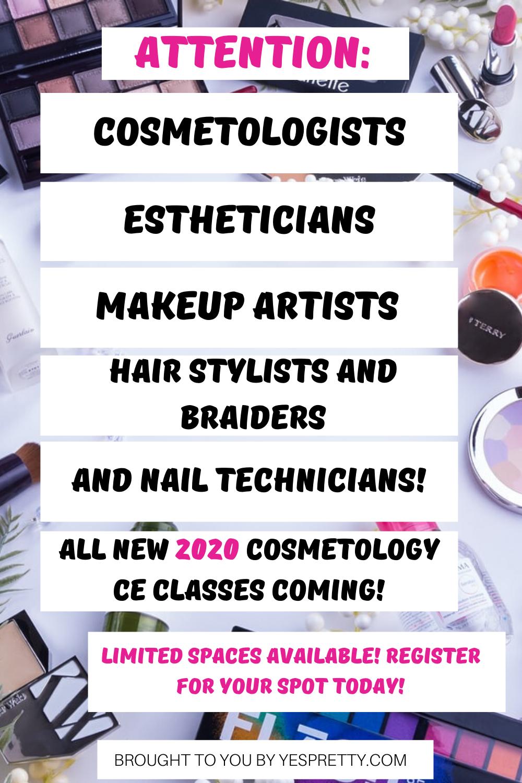 If you're a makeup artist, esthetician, nail tech