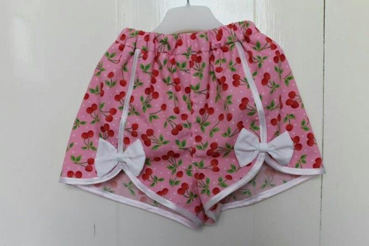 Cherry print shorts by #NoodlePips