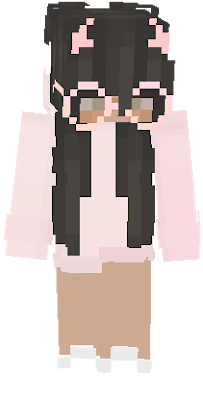 Hd Pink Hoodie Girl With Glasses In 2021 Minecraft Skins Cute Minecraft Girl Skins Minecraft Skins