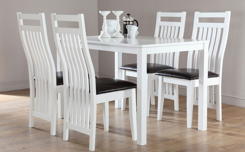 Room Milton White Dining Table
