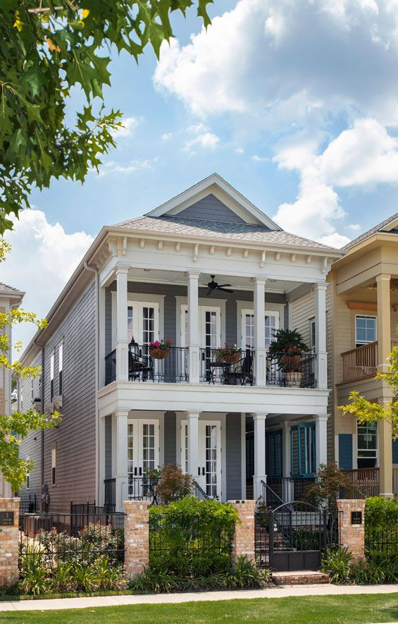 This Beautiful New Orleans Shotgun House Has Massive Curb Appeal With Its  Gated Entrance, Wrap Around Porch, Balcony And Sweep Of French Doors. Amazing Pictures