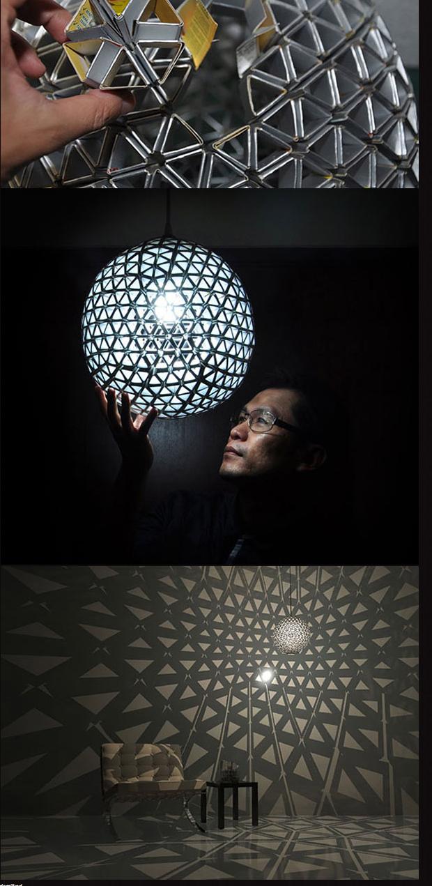 hexagonal/pentagonal lamp