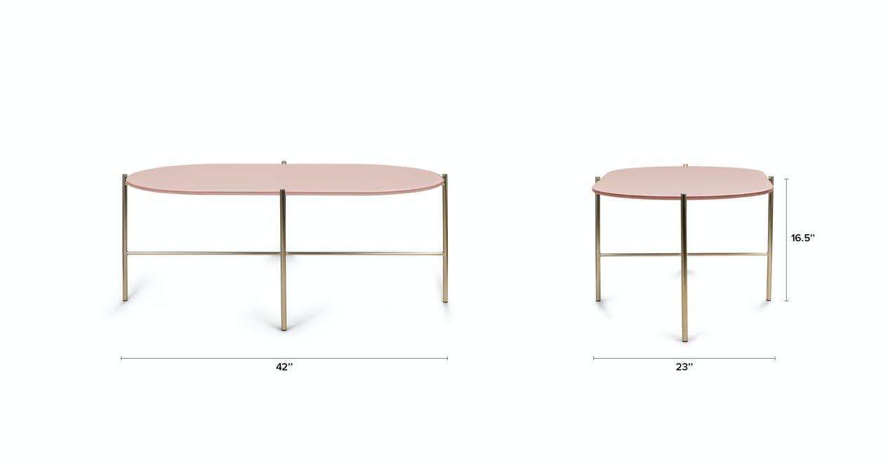 Silicus Pink Oblong Coffee Table In 2020 Coffee Table Modern Coffee Tables Oval Glass Coffee Table [ 662 x 1275 Pixel ]