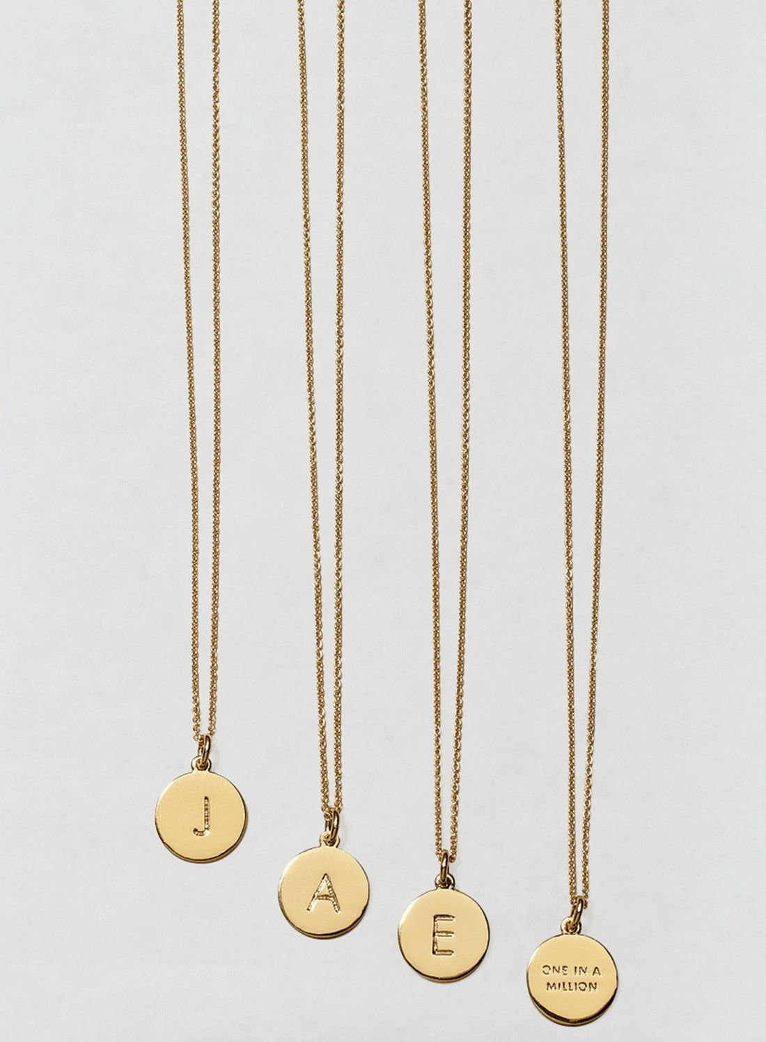 One in a millionu initial pendant necklace initials an and dainty